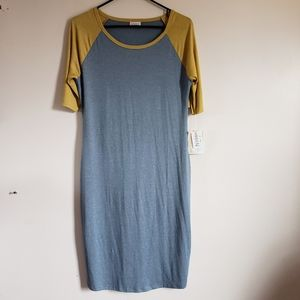 NWT Lularoe Blue and Yellow Julia